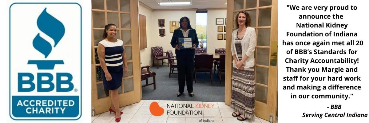 National Kidney Foundation of Indiana BBB Accredited